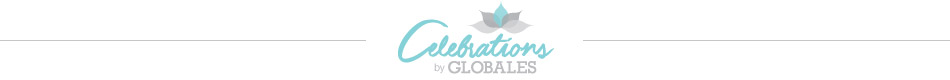 Logo celebrations by globales